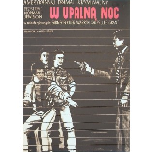 W upalna noc Norman Jewison Marian Stachurski Polskie Plakaty Filmowe