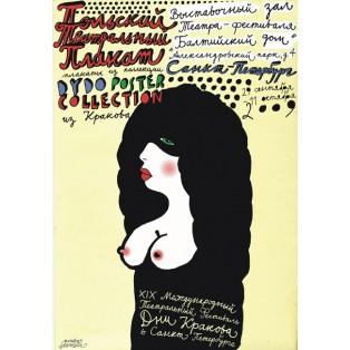 Polski plakat teatralny Monika Starowicz Polskie Plataty Wystawowe