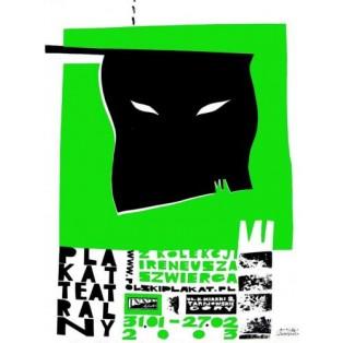 Plakat teatralny z kolekcji Ireneusza Szwierca Monika Starowicz Polskie Plataty Wystawowe