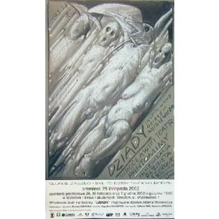 Dziady Franciszek Starowieyski Polskie Plakaty Teatralne