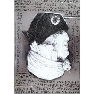 Męczeństwo i śmierć J.P. Marata Franciszek Starowieyski Polskie Plakaty Teatralne