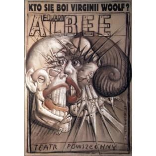 Kto się boi Virginnii Woolf Franciszek Starowieyski Polskie Plakaty Teatralne