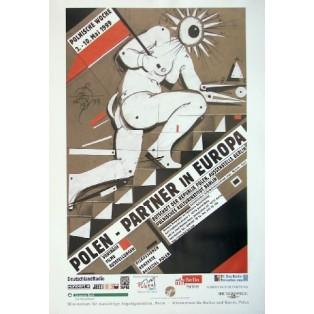 Polska - Partner w Europie Franciszek Starowieyski Polskie Plakaty