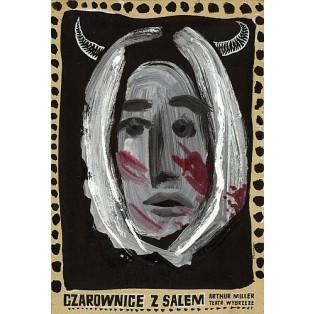 Czarownice z Salem Franciszek Starowieyski Polskie Plakaty Teatralne