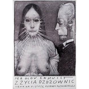 Z życia dżdżownic  Franciszek Starowieyski Polskie Plakaty Teatralne