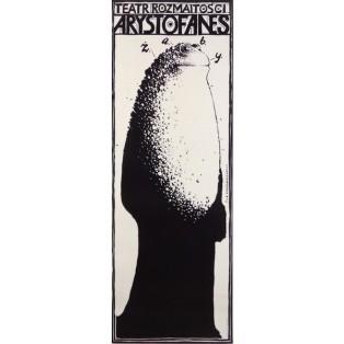 Arystofanes Żaby Franciszek Starowieyski Polskie Plakaty Teatralne