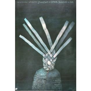 Schodami w górę schodami w dół Andrzej Domalik Stasys Eidrigevicius Polskie Plakaty Filmowe