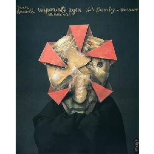 Wspaniałe życie Stasys Eidrigevicius Polskie Plakaty Teatralne