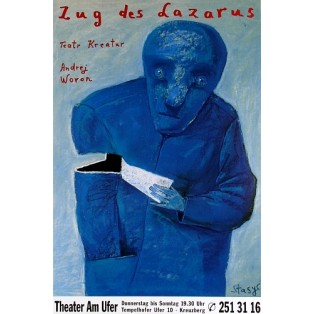 Wyprawa Łazarza Stasys Eidrigevicius Polskie Plakaty Teatralne