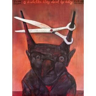 O diabełku, który chciał być dobry Stasys Eidrigevicius Polskie Plakaty Teatralne