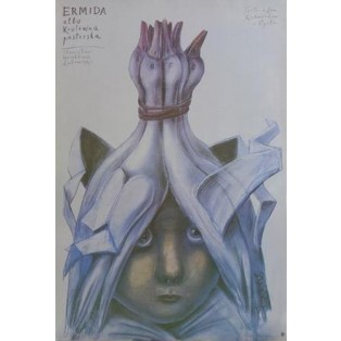 Ermida albo królewna pasterska Stasys Eidrigevicius Polskie Plakaty Teatralne