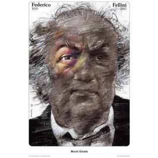 Federico Fellini - Movie Greats Waldemar Świerzy Polskie Plakaty Filmowe