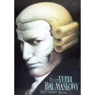 Bal maskowy Wiesław Wałkuski Polskie Plakaty Operowe