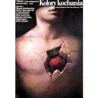 Kolory kochania Wanda Jakubowska Wiesław Wałkuski Polskie Plakaty Filmowe
