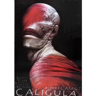 Caligula Wiesław Wałkuski Polskie Plakaty Teatralne
