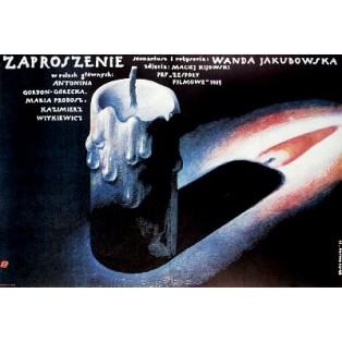 Zaproszenie Wanda Jakubowska Wiesław Wałkuski Polskie Plakaty Filmowe