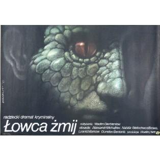 Łowca żmij Vadim Derbenyov Wiesław Wałkuski Polskie Plakaty Filmowe