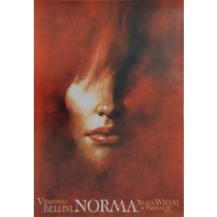 Norma Wiesław Wałkuski Polskie Plakaty Operowe