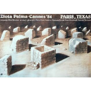 Paryż, Texas Wim Wenders Wiesław Wałkuski Polskie Plakaty Filmowe