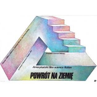 Powrót na ziemię Leonard Nimoy Wiesław Wałkuski Polskie Plakaty Filmowe