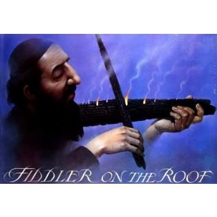 Fiddler on the roof/Skrzypek na dachu Norman Jewison Wiesław Wałkuski Polskie Plakaty Filmowe