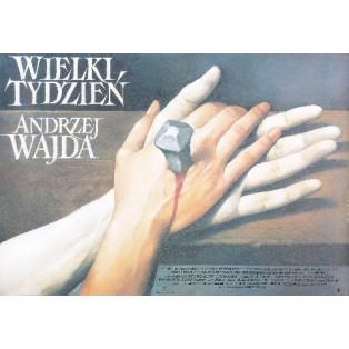 Wielki tydzień Andrzej Wajda Wiesław Wałkuski Polskie Plakaty Filmowe