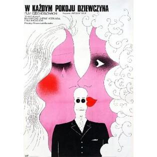 W każdym pokoju dziewczyna Jaroslav Balik Mieczysław Wasilewski Polskie Plakaty Filmowe