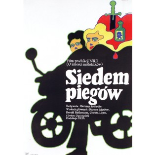 Siedem piegów Herrmann Zschoche Maciej Żbikowski Polskie Plakaty Filmowe