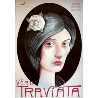 Traviata Verdi Leszek Żebrowski Polskie Plakaty Operowe