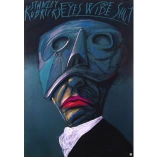 Oczy szeroko zamknięte Stanley Kubrick Leszek Żebrowski Polskie Plakaty Filmowe