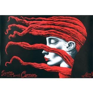 Carmen Georges Bizet Leszek Żebrowski Polskie Plakaty Operowe