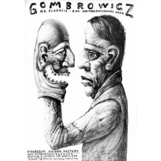 Gombrowicz na plakacie Leszek Żebrowski Polskie Plakaty Teatralne