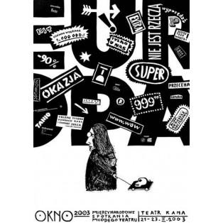 Okno Leszek Żebrowski Polskie Plakaty Teatralne