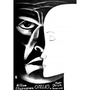 Otello Leszek Żebrowski Polskie Plakaty Teatralne