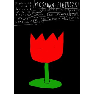 Moskwa Pietuszki Wieniedikt Jerofiejew Leszek Żebrowski Polskie Plakaty Teatralne