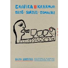 Grafika z Krakowa – Ożóg, Surzycki, Tomalski
