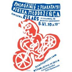 Drugie śniadanie z plakatami Piotra Młodożeńca